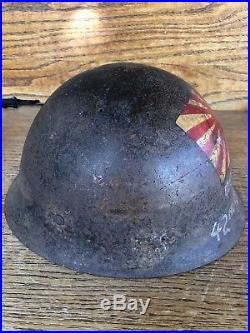 WWII Japanese Naval Landing Forces Helmet 42nd Seabees Leyte USA German