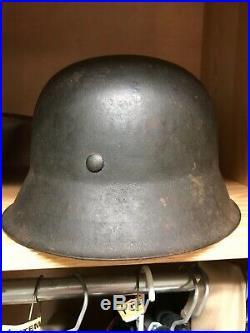 WWII ORIGINAL GERMAN COMBAT HELMET M42 CKL 66 WithDECAL! Kriegsmarine