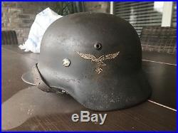 WWII Original DD LW German Helmet