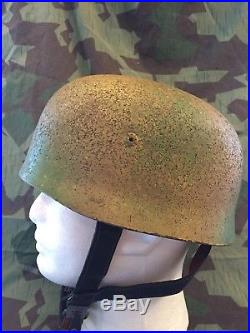 WWII WW2 German Camouflaged Paratrooper Helmet M38