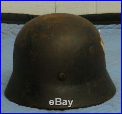 WWII WW2 German Helmet / Garage Find