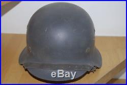 WWII WW2 original German luftwaffe M42 helmet, single decals, refurbished