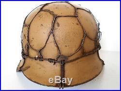 WWII german helmet Chicken Wire