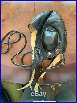 World War II German Luftwaffe Winter Flying Helmet LKP W101 Excellent Shape