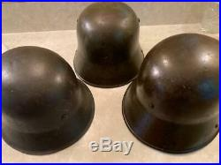 Ww1 And Ww2 German Helmets Lot With Liners