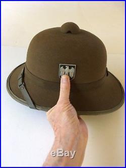 Ww2, German Afrika Korps Dak Pith Helmet, Second Type, Museum Quality, Mint-mint