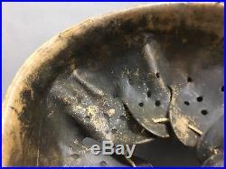 Ww2 German Helmet Liner Original Steel/zinc M40 M42 Size 66