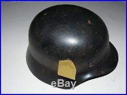 Ww2 German Helmet With Liner & Chinstrap