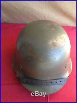 Ww2 German Helmet With Marks