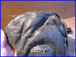 Ww2 German Luftwaffe Leather Flight Helmet