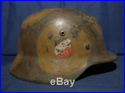 Ww2 German M-35 air helmet. Camouflage. Size 64. With liner