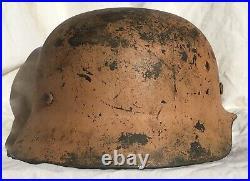 Ww2 German M35 Afrika Korps Pink Camo Helmet Shell Size 64