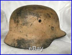 Ww2 German M35 Afrika Korps Pink Camo Helmet Size 66