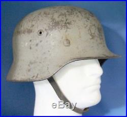 Ww2 German M40 Kreigsmarine Helmet Shipboard Gray Camo