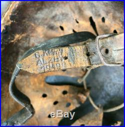 Ww2 German M40 Steel Helmet + Chinstrap & Liner, Untouched House Clearance