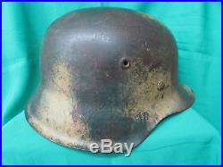 Ww2 German M42 Normandy Camo Helmet