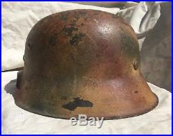 Ww2 German M42 Normandy Camo Helmet Size 68