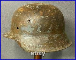 Ww2 German M42 Steel Helmet Et Shell. Good Original Ideal For Restoration
