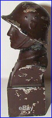 Ww2 German Massive Waffen Ss Helmet Wehrmacht Heer Army Book Holder Statue Tk Wh
