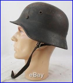 Ww2 German Model 40 No Decal Army Helmet, Maker Marked Q62