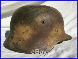 Ww2 German Normandy Camo M35 Helmet Shell Et64
