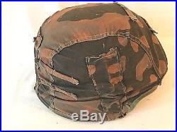 Ww2 German Reversible Camouflage Helmet Cover For Elite Units. Rare