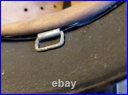Ww2 German helmet with liner No chinstrap with chicken wire for camo