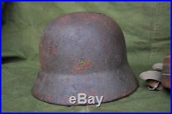 Ww2 German m40 helmet and gasmask lot