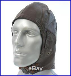 Ww2 Wwii German Aviator Pilot Leather Helmet Hat