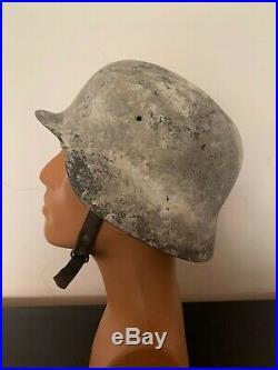 Ww2 Wwii Spanish German Type Helmet Wehrmacht Original M42 Liner & Chin Strap
