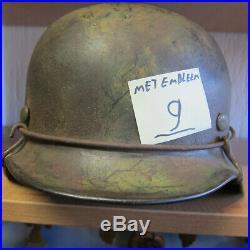 Ww2 german camo helmet no9 with wire on it