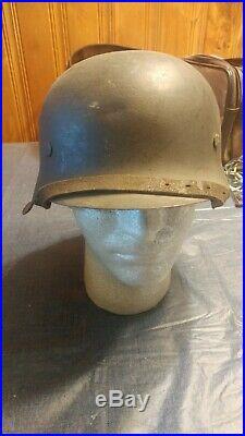 Ww2 german helmet original. Very rare helmet. M42, with pigskin liner original