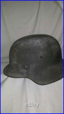 Ww2 original M42 German Helmet ET 68 lot 1915 refurbished