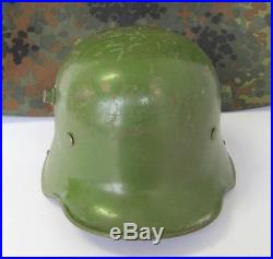 Wwi Wwii Original German M16 Combat Steel Helmet Et64 V. Rare