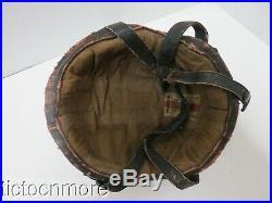 Wwii German Bomber Crew Member Leather Flighter Helmet Ssk 90