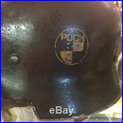 Wwii German Factory Helmet Puch Decal Motorcycle Truck Manufacturing