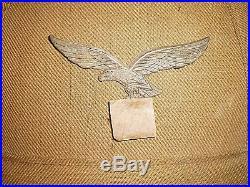 Wwii German Luftwaffe Dak Afrika Korps Pith Helmet/ Hat Badge, Original