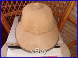 Wwii German Luftwaffe Dak Afrika Korps Tropical Pith Helmet