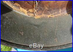 Wwii German M35 Army Helmet With Liner And Chinstrap Combat Veteran
