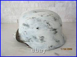 Wwii German M35 Helmet Spanish Blue Division Eastern Front Replica Et68