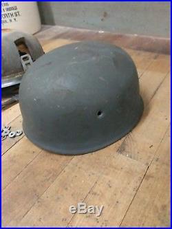Wwii German M38 Ckl71 Late War Nd Fallschirmjager Helmet