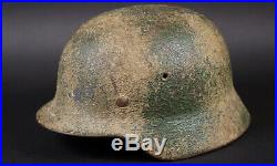 Wwii German M40 Camouflage Helmet, Et 66