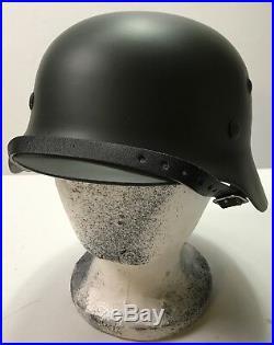 Wwii German M40 Combat Field Helmet- 66 Shell, 58 Liner