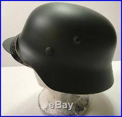 Wwii German M40 Combat Field Helmet- 68 Shell, 60 Liner