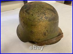 Wwii German M42 Camo Helmet -nice