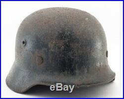 Wwii German M42 Helmet Marked N172 Size 62