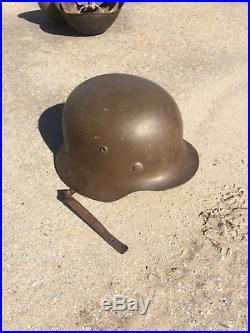 Wwii German M42 Helmet Uniform Cap No Decal