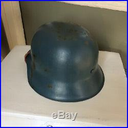Wwii German M42 Helmet W Liner And Chinstrap