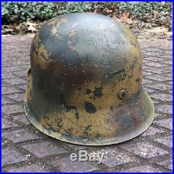 Wwii German M42 Normady Camo Helmet Decal & Liner