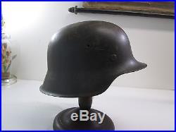 Wwii German Steel Helmet Model 1942 With Original Liner Great Condition #l261